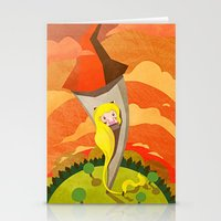 rapunzel Stationery Cards featuring Rapunzel by parisian samurai studio