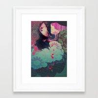 smoke Framed Art Prints featuring smoke by kiDChan