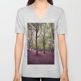 Woodland Trees Unisex V-Neck