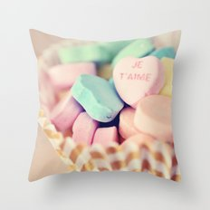 Je T'aime Valentine Throw Pillow