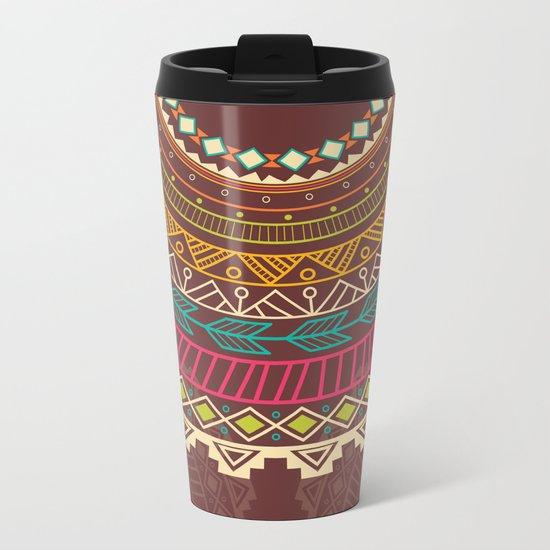 Aztec ornament Metal Travel Mug