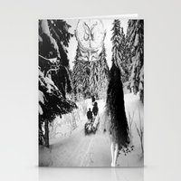 pagan Stationery Cards featuring Pagan forest by Kristina Haritonova