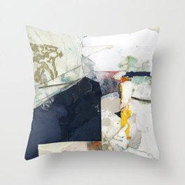 White Landscape from an Aerial View Throw Pillow