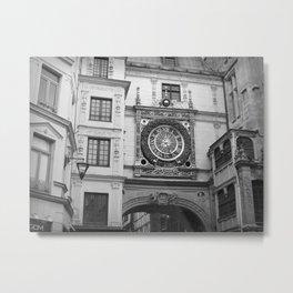 Le Gros Horloge,  Rouen, France Metal Print