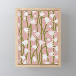 Climbing Lillies on Pink Framed Mini Art Print