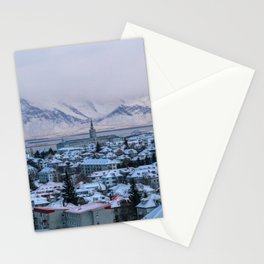 Icy Mountains in Reykjavik Stationery Cards