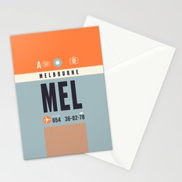 Baggage Tag A - MEL Melbourne Tullamarine Australia Stationery Cards