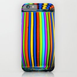 Colored Lines / Wine Glasses Photographic iPhone Case