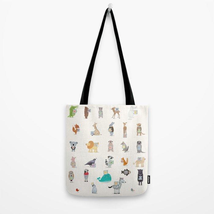little alphabet Tote Bag
