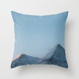 Iceland Mountain Sunset Throw Pillow