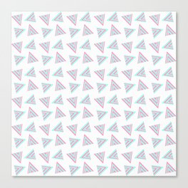 Pink Cyan Pattern Canvas Print