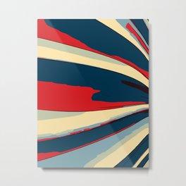 Retro Abstract Stripes Comic Pop Art  Metal Print