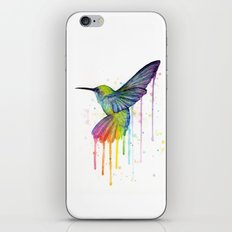 Hummingbird Rainbow Watercolor iPhone & iPod Skin