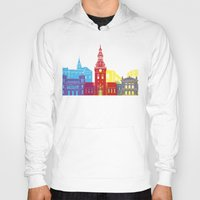oslo Hoodies featuring Oslo skyline pop by Paulrommer