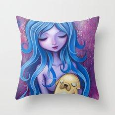 Lady Rainicorns Loving Arms Throw Pillow