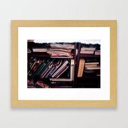 And then there were books Framed Art Print