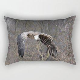 big griffon vulture flies in the sky Rectangular Pillow