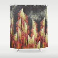 teeth Shower Curtains featuring Crooked teeth by Kardiak