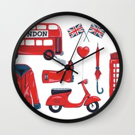 London Calling Wall Clock