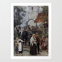 Janis Rozentāls - After Church Art Print