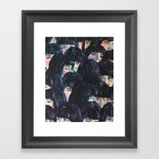 What are you seeing? Framed Art Print