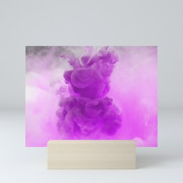 Purple Abstract Smoke Mini Art Print