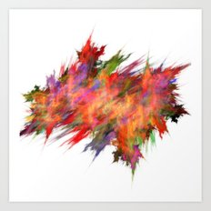 Colour explosion  (A7 B0212) Art Print