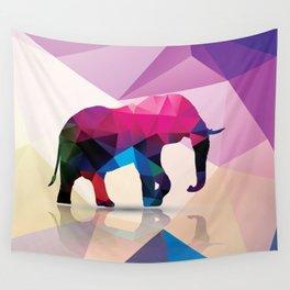 Geometric elephant Wall Tapestry