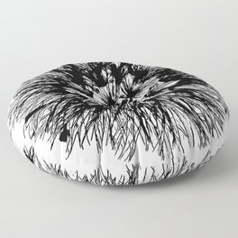 Make A Wish Dandelion Vector In Black Floor Pillow