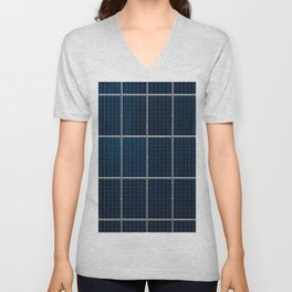 Solar Panel Pattern (Color) Unisex V-Neck