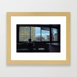 Paused Framed Art Print
