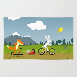 Happy riders Rug