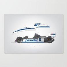 Outline Series N.º6, Nelson Piquet, Brabham BT-52 BMW, 1983 Canvas Print