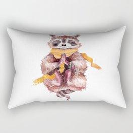 Raccoon buddha Rectangular Pillow