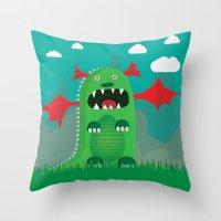 dragons Throw Pillows featuring Dragons! by SkippyZA