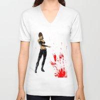 avenger V-neck T-shirts featuring Avenger Mother by Alessandro Turetta
