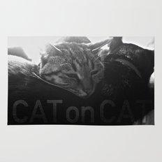 Cat on Cat Rug