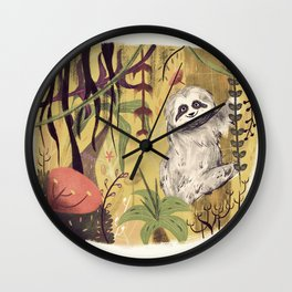 Sloth Bear Wall Clock