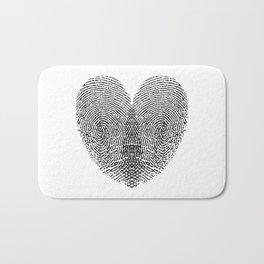Love Fingerprint Bath Mat