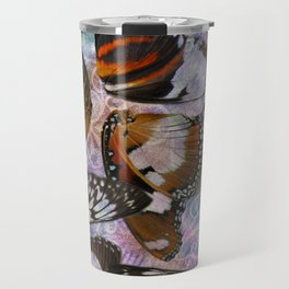 Colorful Butterfly Wing Mosaic Collage Travel Mug