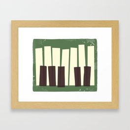 Tickle the ivories! Framed Art Print