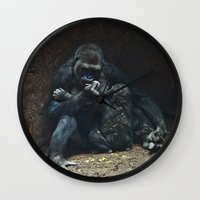mother Wall Clocks featuring Mother by Mary Kilbreath
