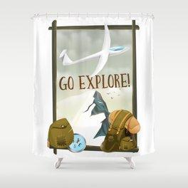Go Explore! Shower Curtain