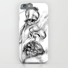 Colored Pencil Portrait iPhone 6s Slim Case