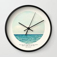 Wall Clocks featuring Salt Water Cure by Tina Crespo