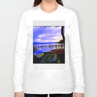 boats Long Sleeve T-shirts featuring Boats by Esther Soendergaard