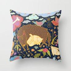 Forest Slumber Throw Pillow