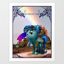A steampunk pony Art Print