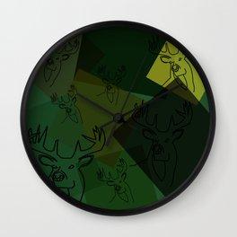 Buck Collage Wall Clock