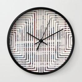 Waterlogged - lined Wall Clock